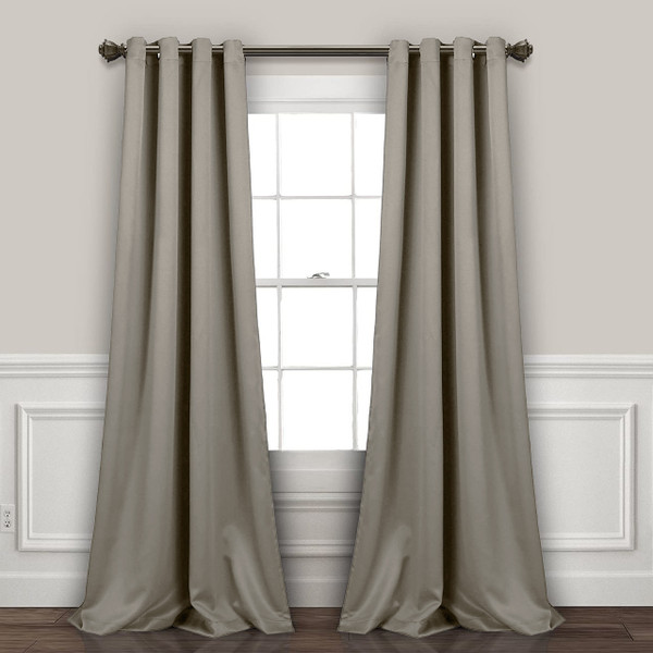 Grey Room Darkening Curtain Panel