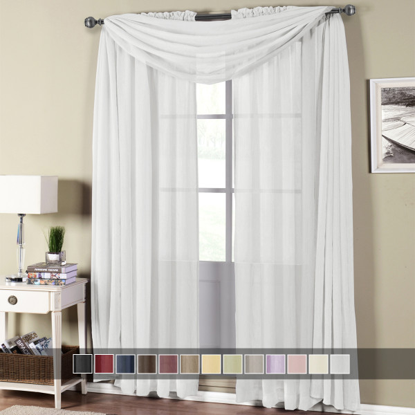 Abri Rod Pocket Crushed Sheer Curtain Panel