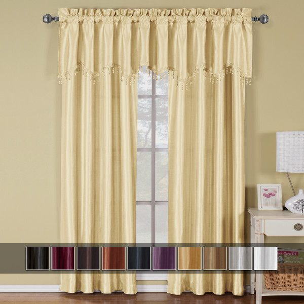 Soho Faux Silk Rod Pocket Curtain Panels
