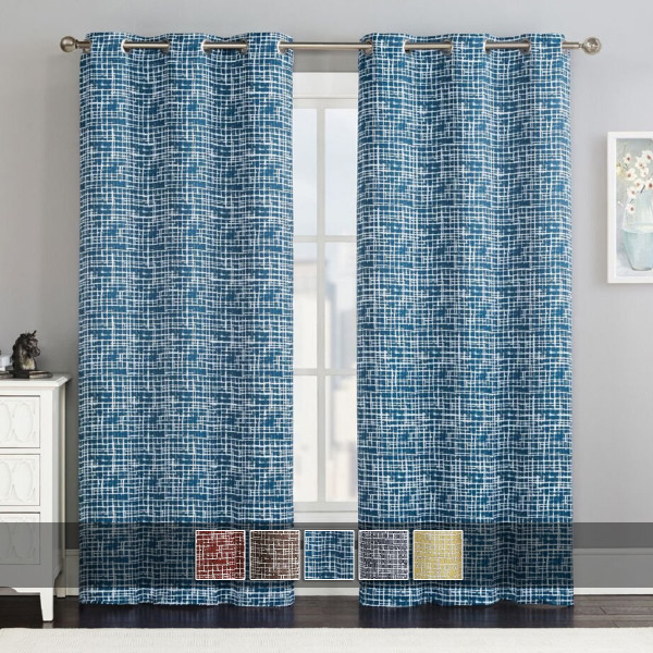 Lenox Thermal Room-Darkening Grommet Top Curtain Panels (Set of 2) with colors