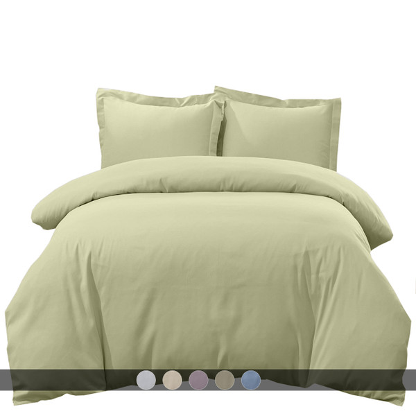 Breathable Crispy Soft 100% Cotton Percale 3-Pc Duvet Cover