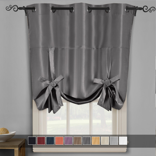 Soho Triple-Pass Thermal Insulated Blackout Curtain Top Grommet-Gray