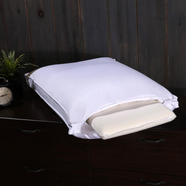 White Duck Down Pillow Medium-Firm Neck Support