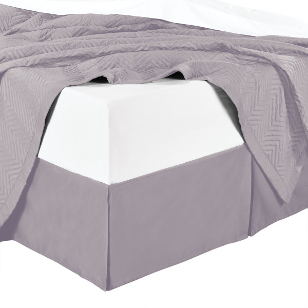 Split Corner Combed Cotton Solid 4500TC Bed Skirts-Lilac