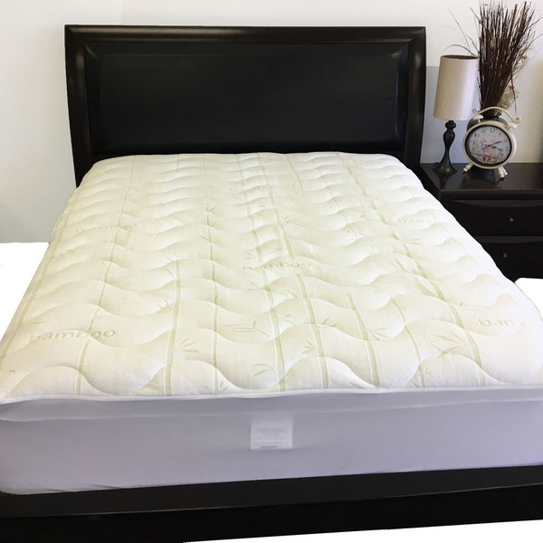 Split-King-Mattress-Topper-Plush-Bamboo-Jacquard-