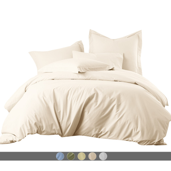 Percale Egyptian Cotton 300 Thread Count Duvet Cover