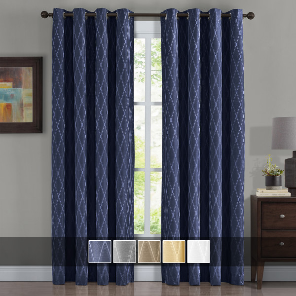100% Blackout Curtain Jacquard Thermal Insulated Victoria