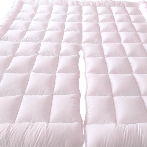 Top Split California King Plush 2 Inches Mattress Pad