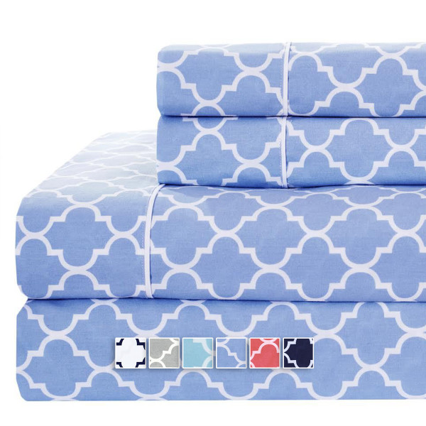 Meridian Top Split (Flex) King Sheet Set Periwinkle