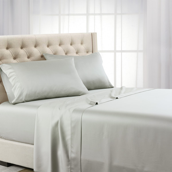 Gray Split King Adjustable 600 Thread Count Bed Sheet Set