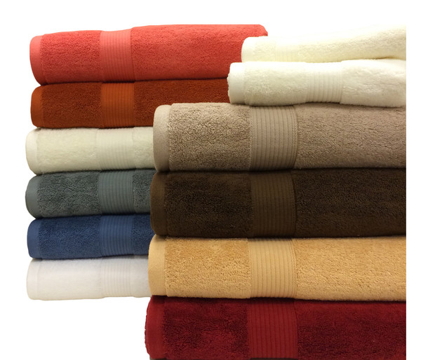 Royal Tradition Plush 100-percent combed Cotton 6-Piece Towel Set With Colors
