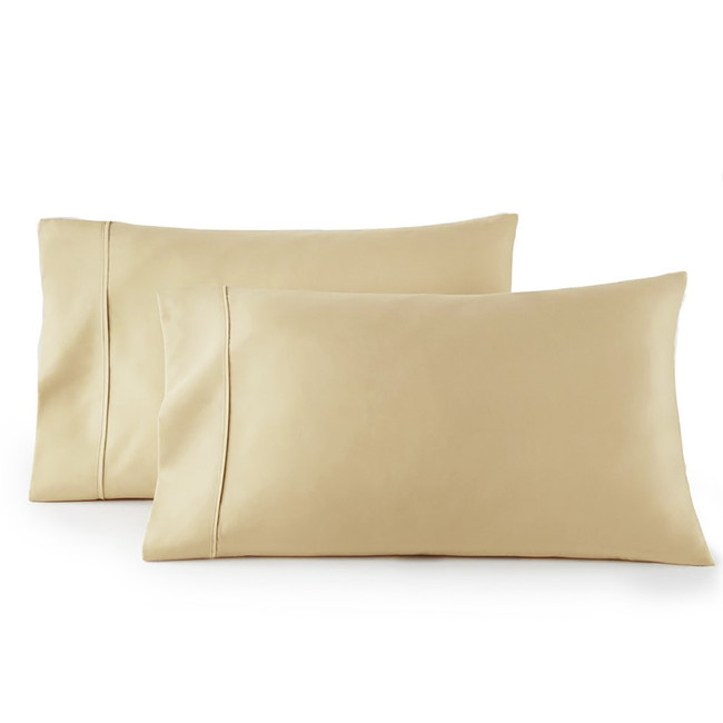 Pair of Pillowcases 100% Cotton 300 Thread Count Solid