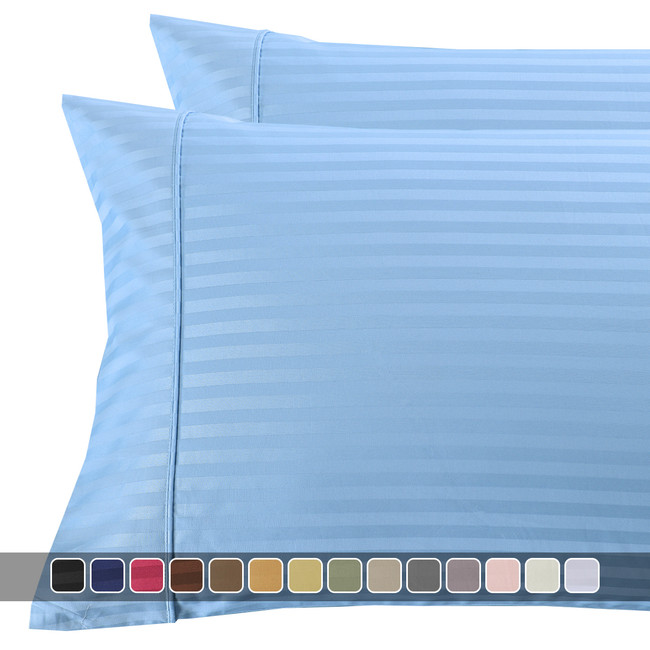 Pillowcases-300-Thread-Count-100%-Cotton-Damask-Striped