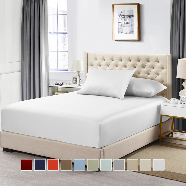 Top King Fitted Sheet 100% Cotton 608 Thread Count