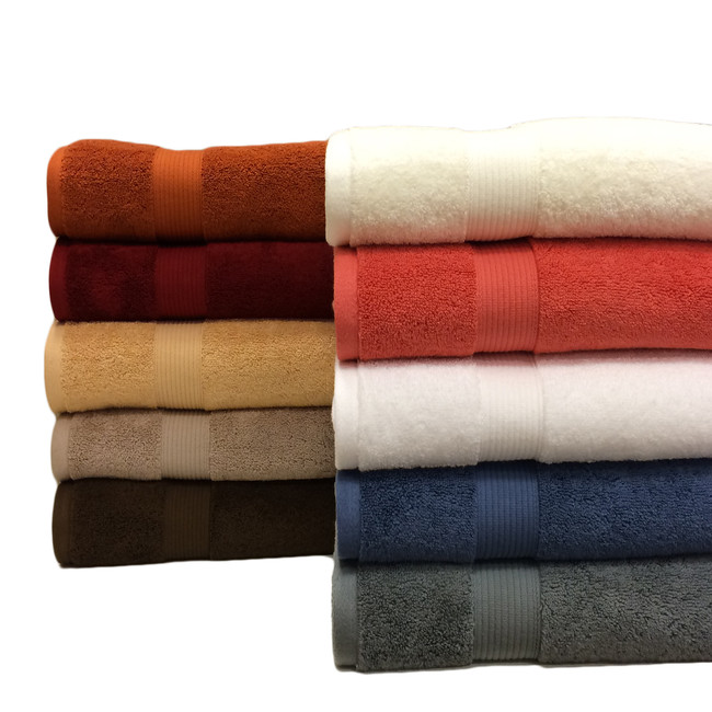 Ultra-soft & absorbent 100% Plush Cotton 2-Piece Bath Sheet Set by Royal Tradition