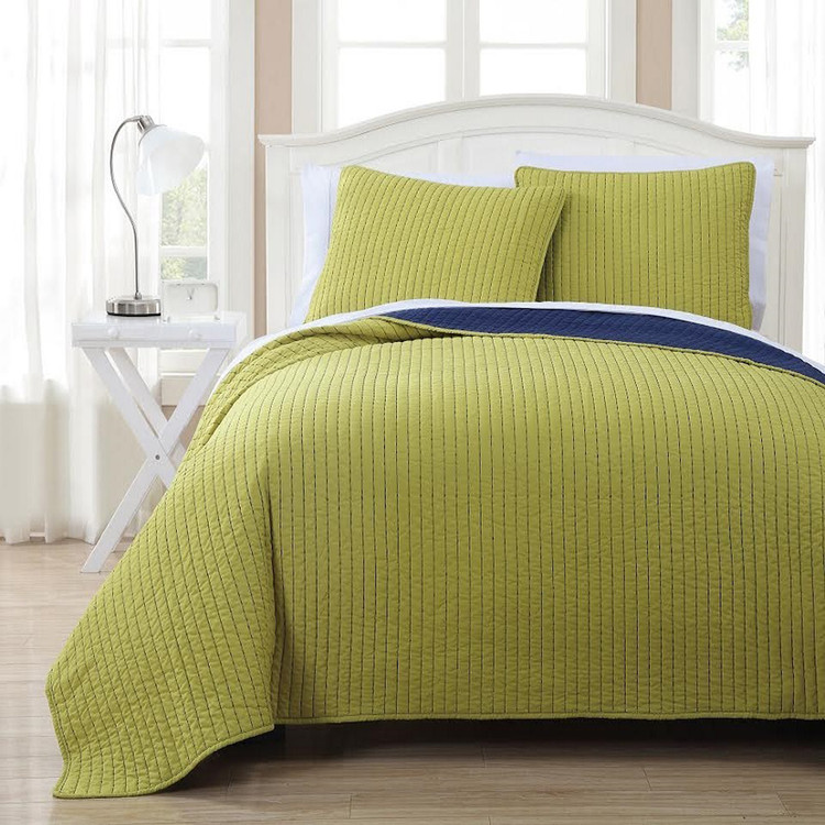 Project Runway Coverlet Set Image Citron/Navy