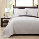 Project Runway Coverlet Set Image Ivory/Chocolate