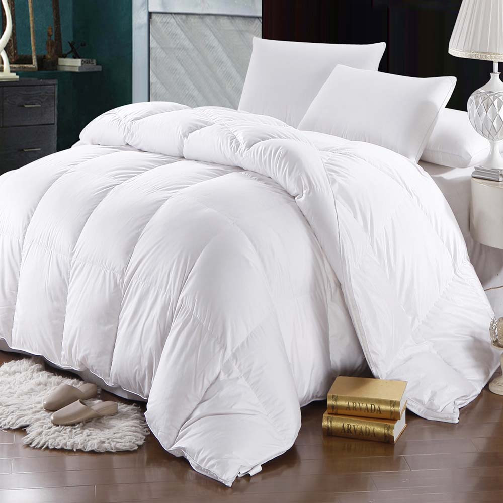 600 thread count white goose down comforter oversize
