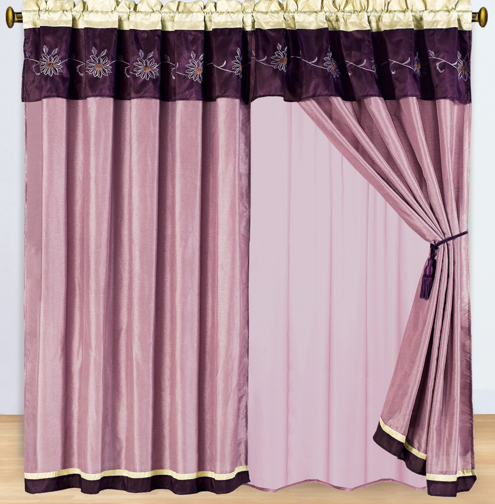 Grand Park Swirl 5 Piece Curtain Panel Set 84 Quot Wx84 Quot L