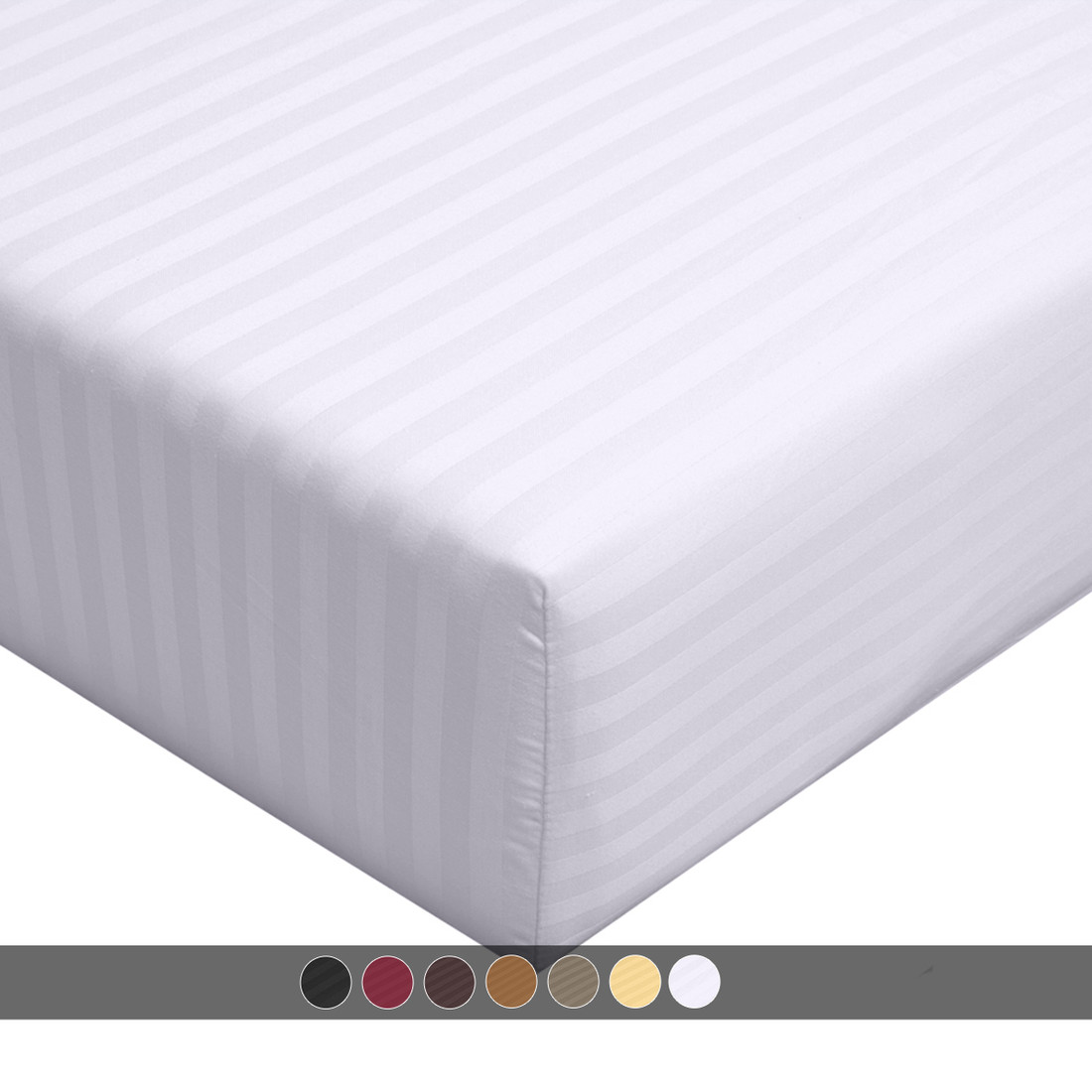 Twin Xl 100 Cotton Fitted Sheet 300 Thread Count Damask
