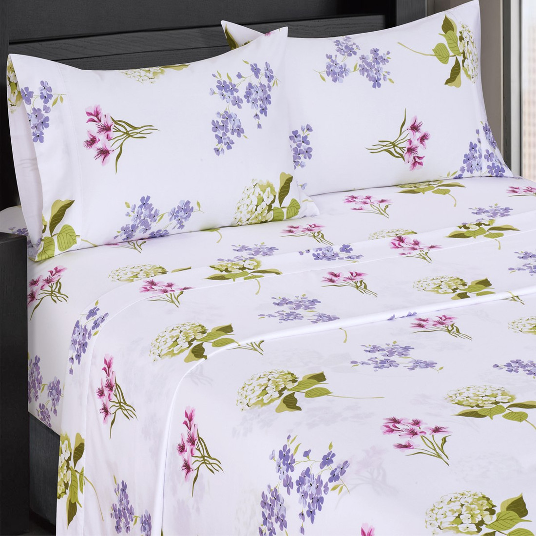 Top Split King Blossom 300 Thread Count 100 Cotton Sheet Sets