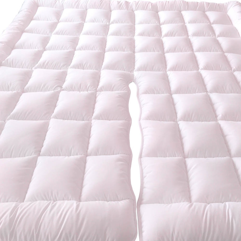 Top Split California King Plush 2 Inches Mattress Pad Down