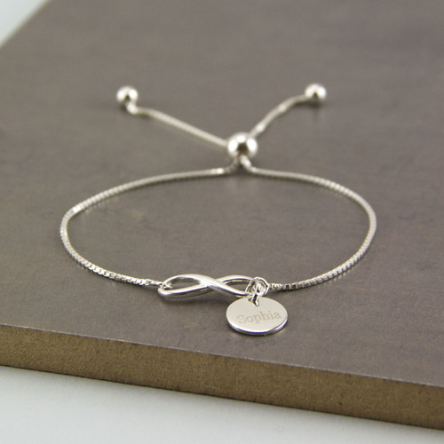 Delicate Sterling Silver Adjustable Sliding Bracelet