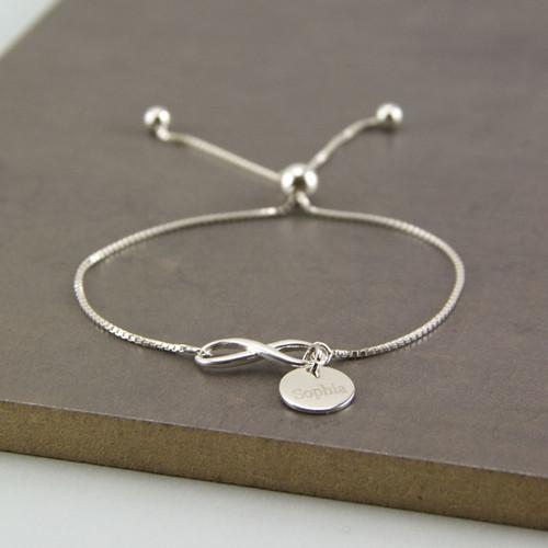 Delicate Sterling Silver Adjustable Sliding Bracelet
