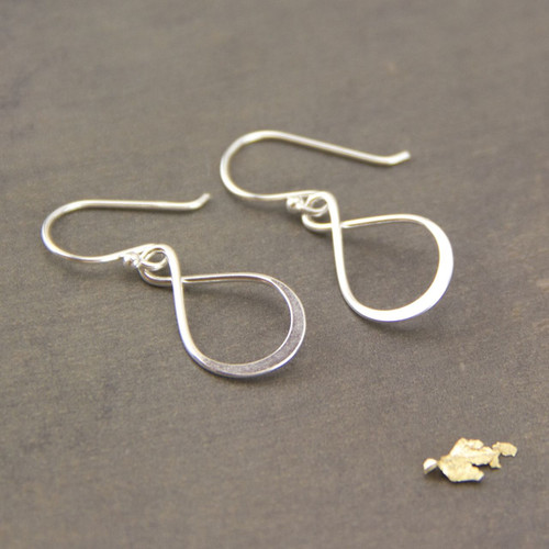 Sterling Silver Infinity Knot Drop Earrings