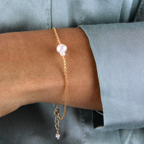 Mother And Child Pearl Bracelet