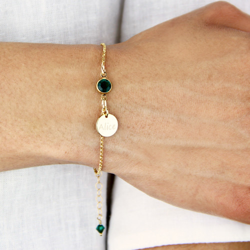 Gold Filled Birthstone Bracelet