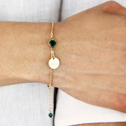 Gold Filled Birthstone Bracelet