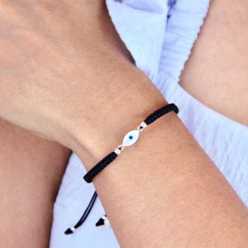 Evil Eye Adjustable Cord Bracelet