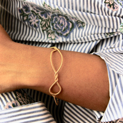 Personalised Gold Twisted Knot Bracelet
