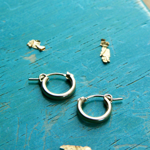 Gold Filled Thick Hoop Earrings