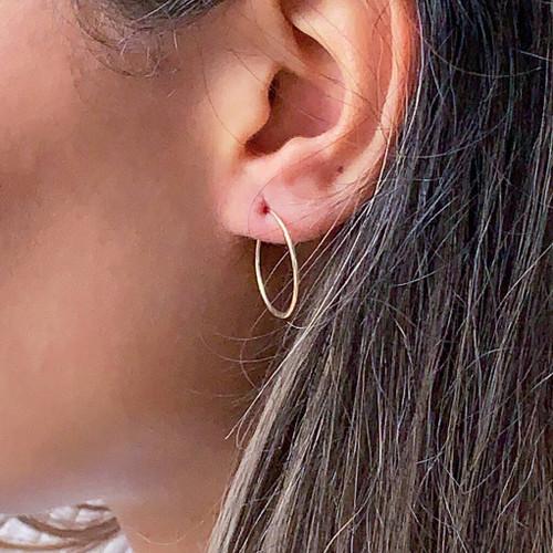 Gold Filled Endless Hoop Earrings