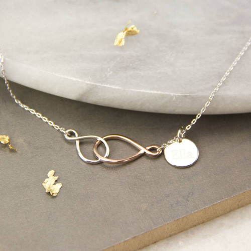Linked Infinity Sterling Silver Necklace