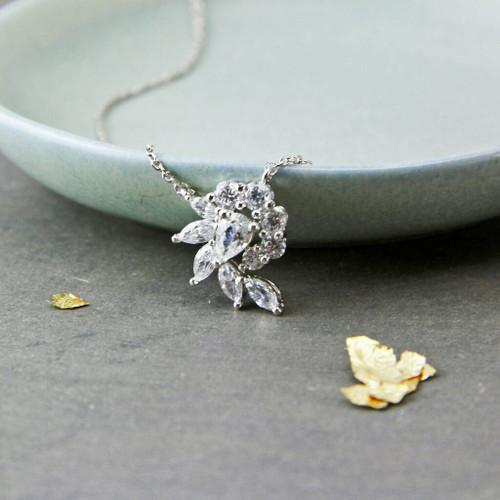 Crystal Spiral Necklace
