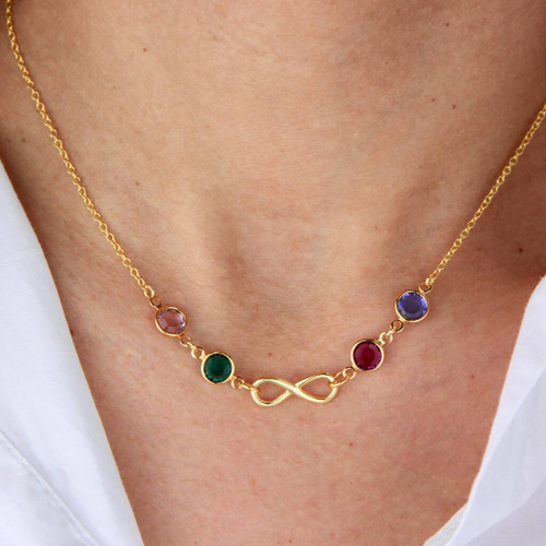 Infinity Family Birthstone Necklace