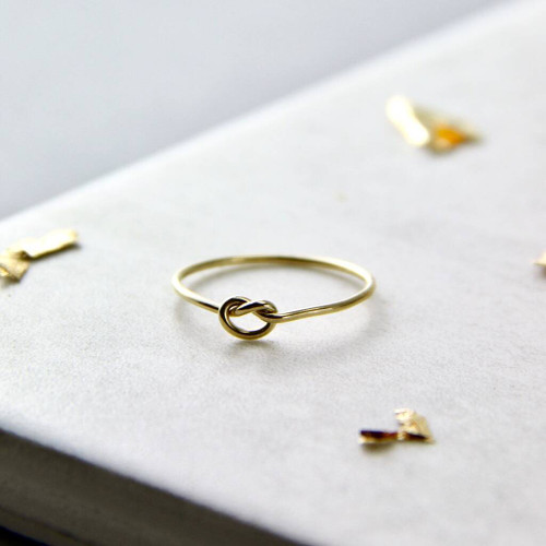 Skinny Gold Filled Knot  Ring