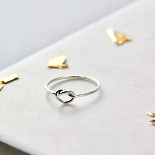 Sterling Silver Skinny Knot Ring