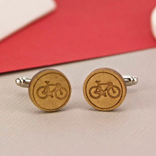 Engraved Bike Cufflinks