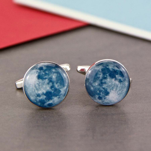 Moon Surface Space Cufflinks