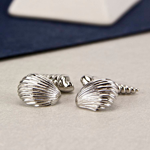 Beach Shells Chain Cufflinks