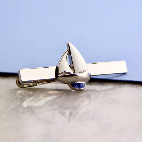 Sailing Yacht Tie Clip