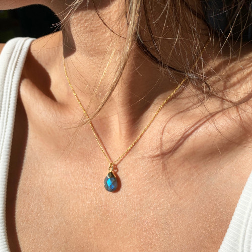 Gold Filled Labradorite Pendant Necklace