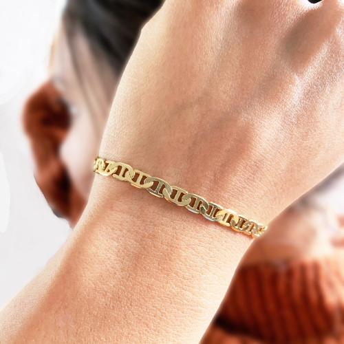 Gold Filled Marine Link Chain Bracelet