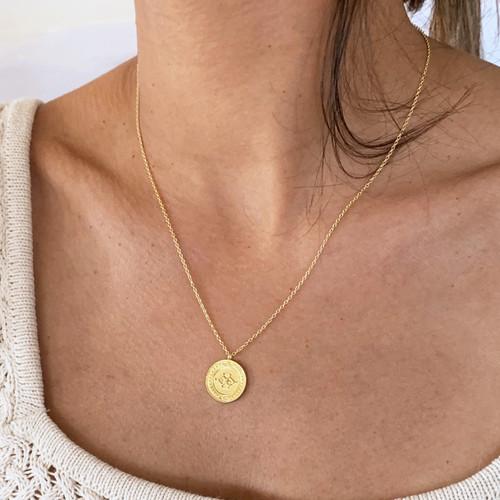 Mongolian Balance Symbol Coin Necklace