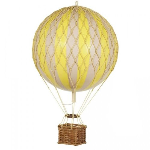 Authentic Models Floating the Skies Hot Air Balloon Replica, Color: Yellow