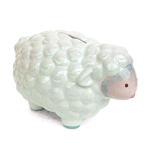 Child to Cherish Mini Lamb Bank, Gray